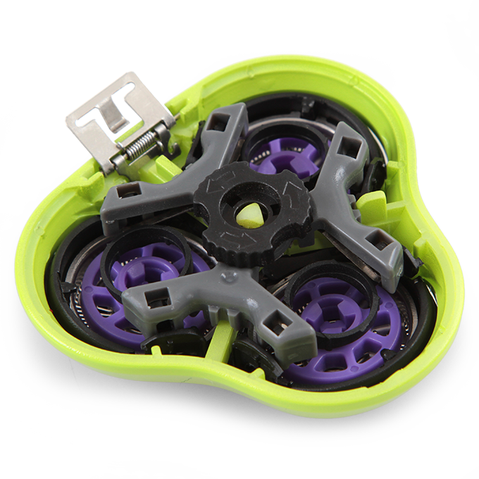4D náhradní hlavice k holícímu strojku, jasně zelená