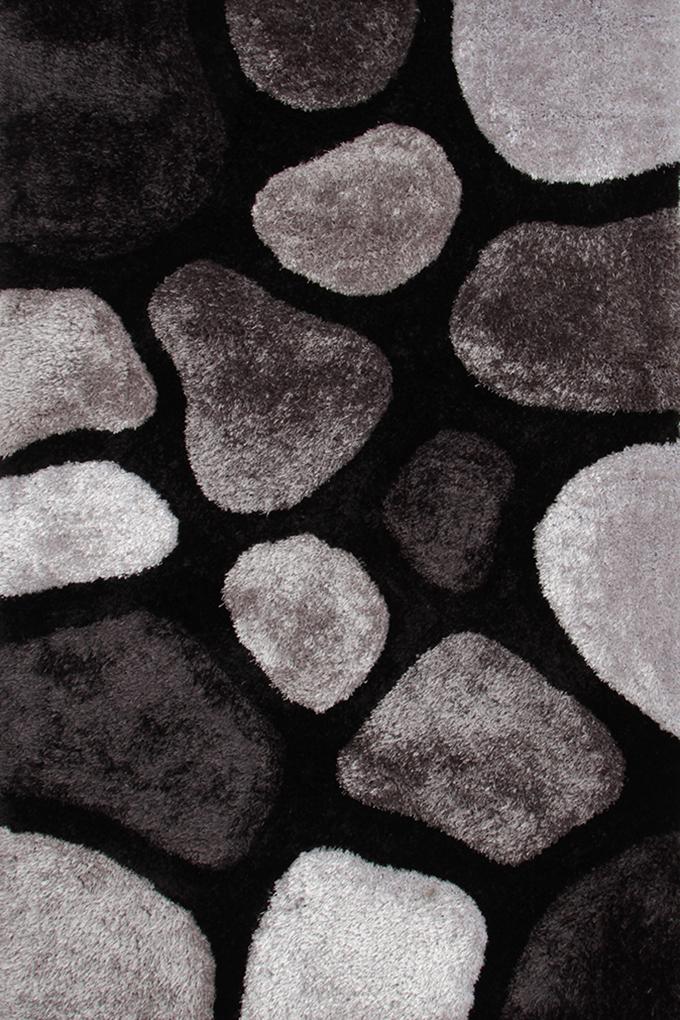 SHARON 3D KOBEREC, černo šedé, 140x200 cm