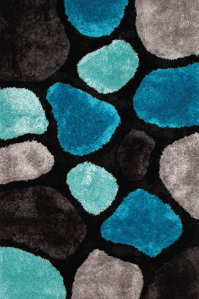 SHARON 3D KOBEREC, černo modré, 140x200 cm