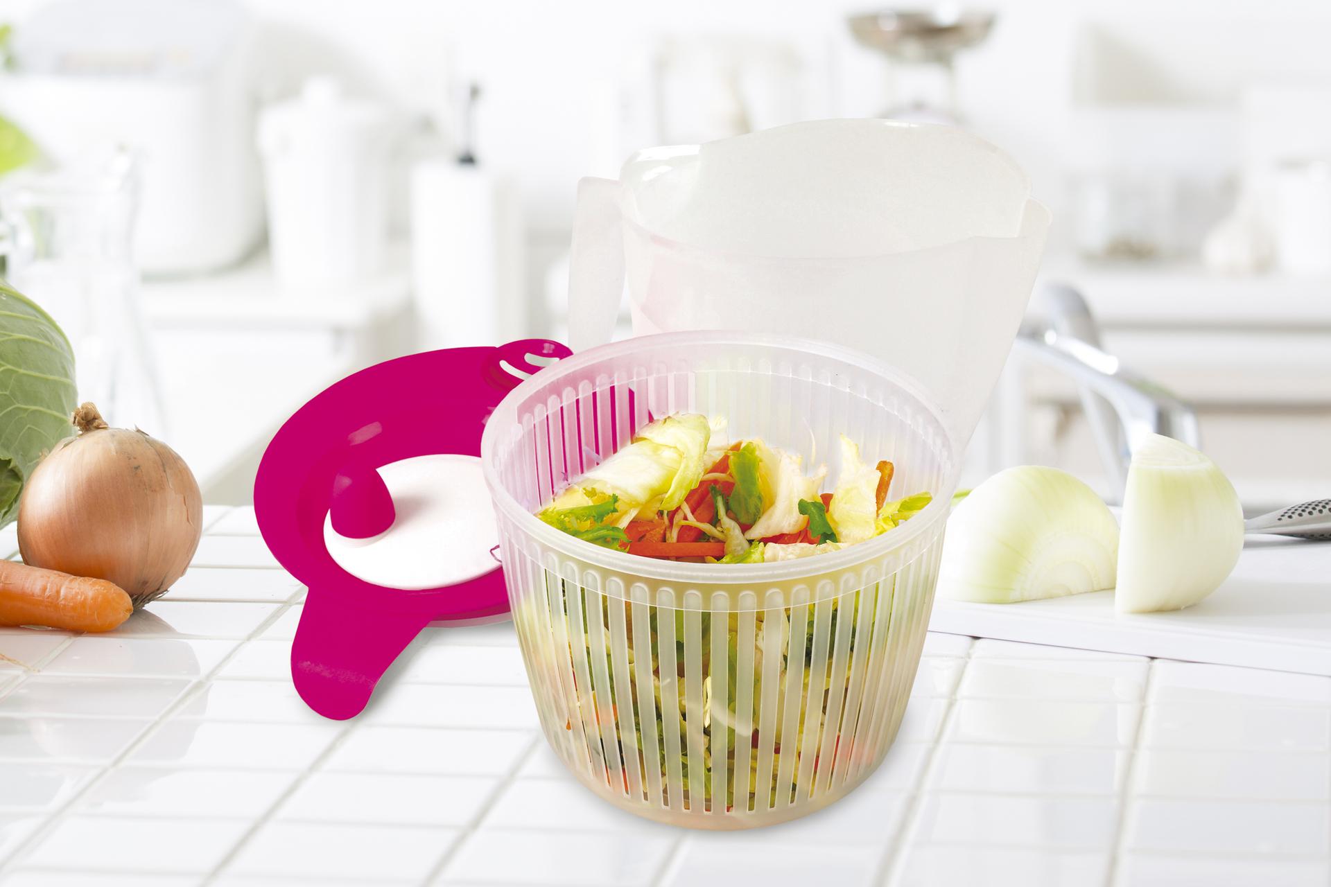 Salátoždímadlo, ruční odstředivka na salát