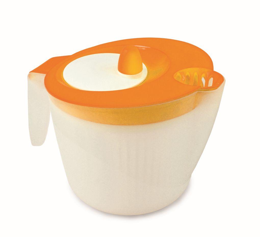 Salátoždímadlo ruční odstředivka  2200 ml, oranžová