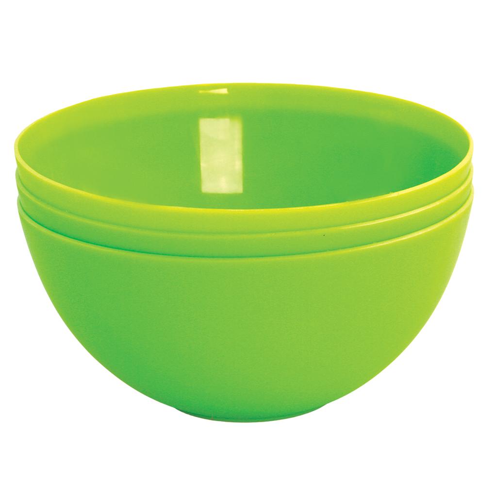 3 ks MISKA 900 ml z odolného plastu zelené