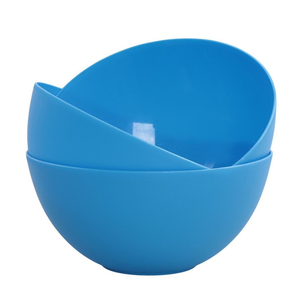 3 ks MISKA 900 ml z odolného plastu modré