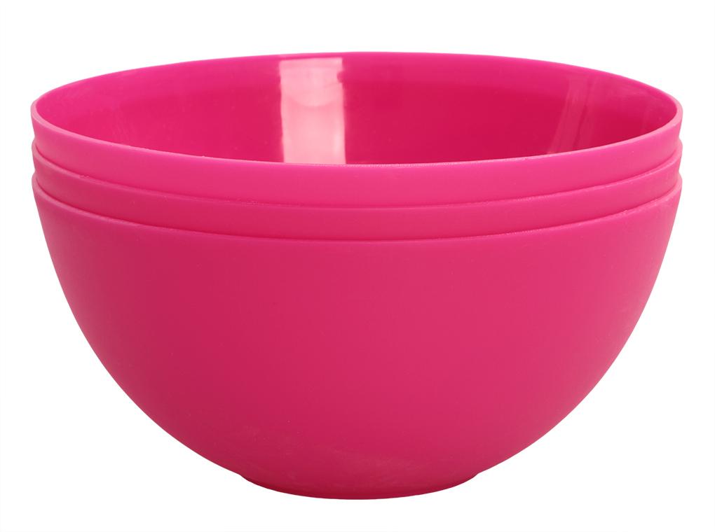 3 ks MISKA 900 ml z odolného plastu růžové