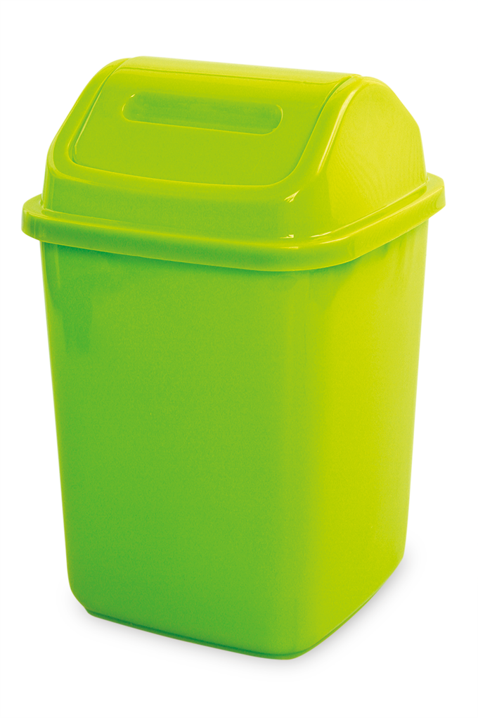 KÔŠ na odpadky s výklopným vekom cca 5 L, zelený