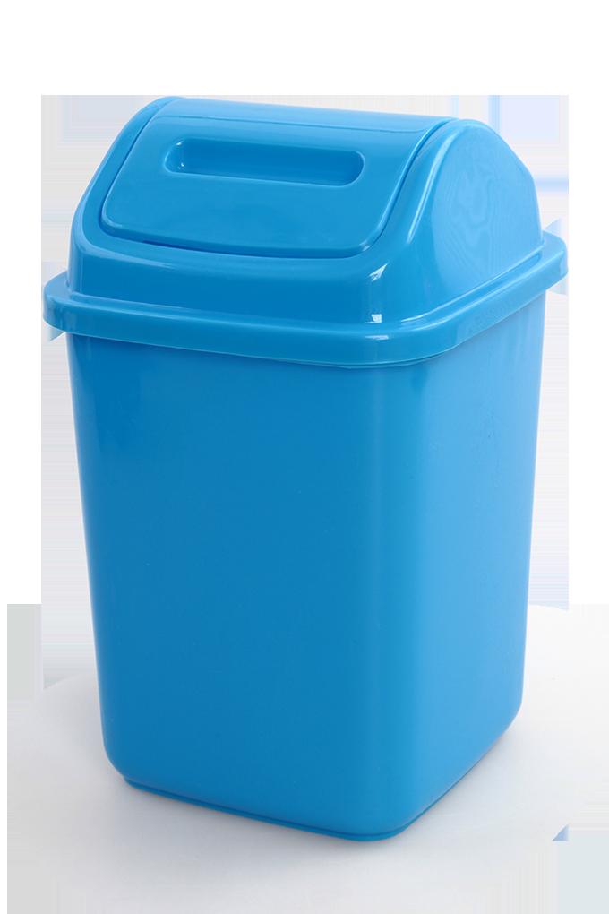 KOŠ na odpadky s výklopným víkem cca 5 L, modrý