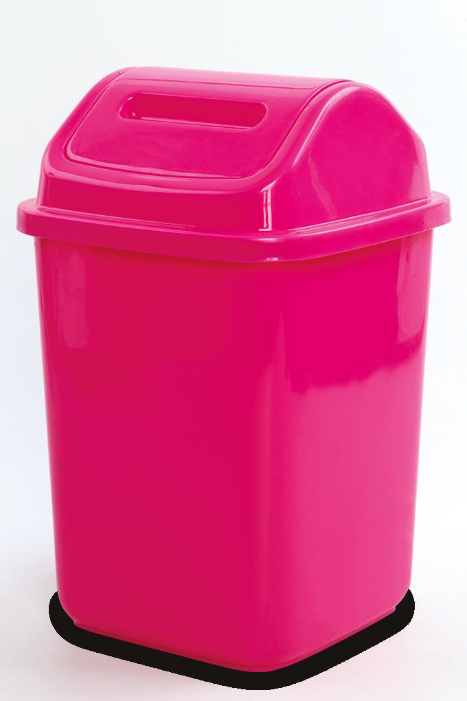 KOŠ na odpadky s výklopným víkem cca 5 L, růžový