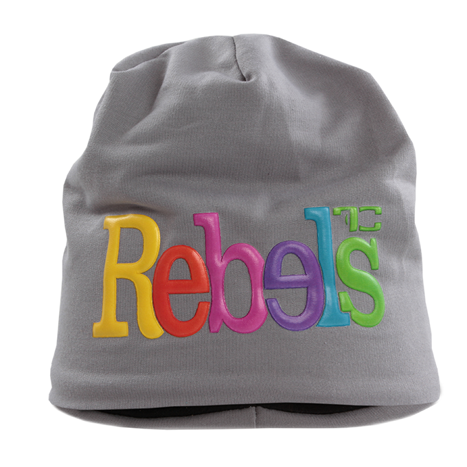 3D REBELS čepice obvod 56 cm šedá
