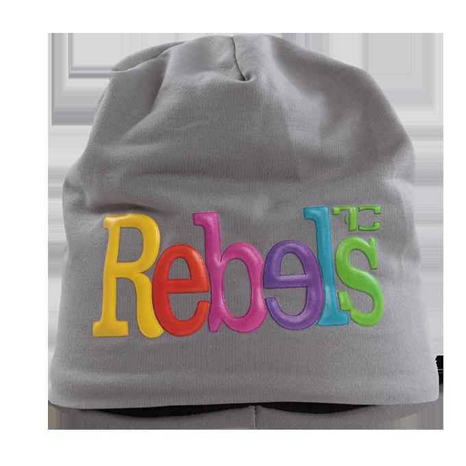 3D REBELS čepice obvod 50 cm šedá