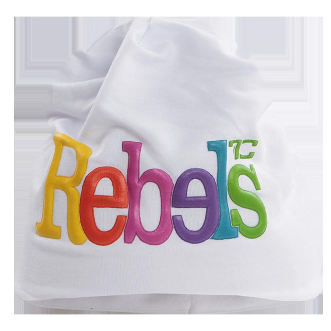 3D REBELS čepice obvod 56 cm bílá