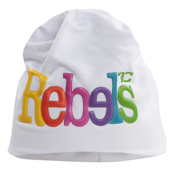 3D REBELS čepice obvod 50 cm bílá