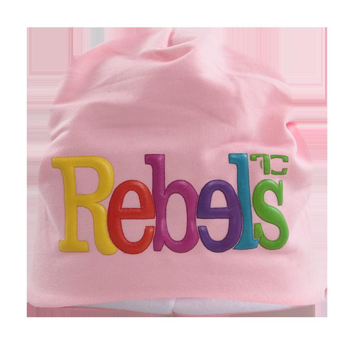 3D REBELS čepice obvod 50 cm růžová