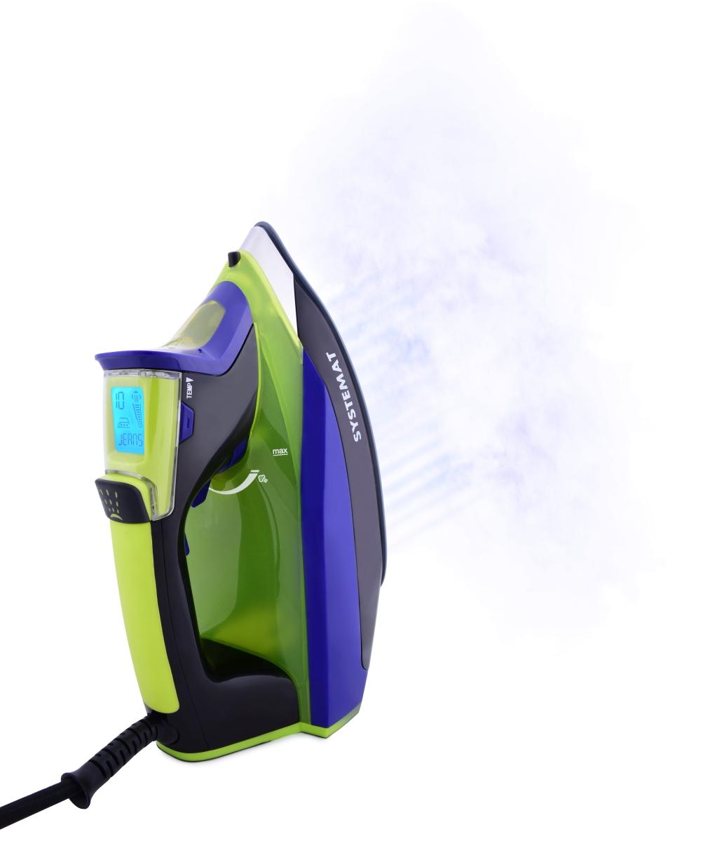 EL94781-Inteligentné naparovacia žehlička s LCD displejom Digitron ANTICALC systémy zeleno-fialová