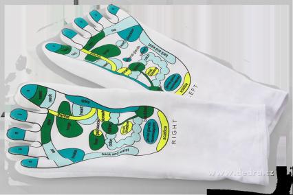 Hydratační a masážní gelové ponožky
