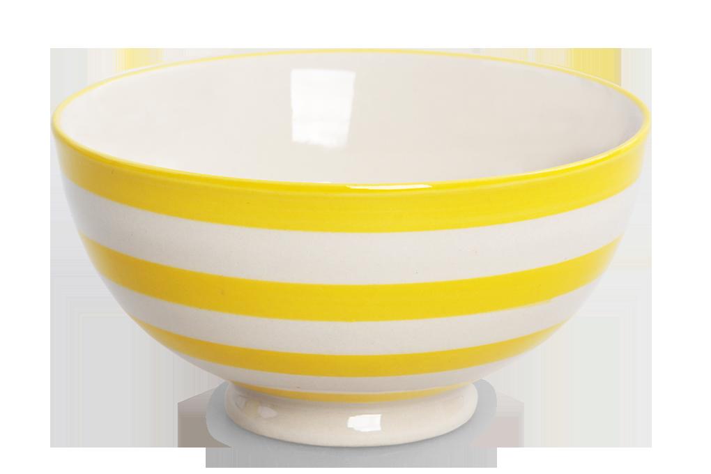 Keramická miska 250 ml STRIPES & DOTS žluté pruhy