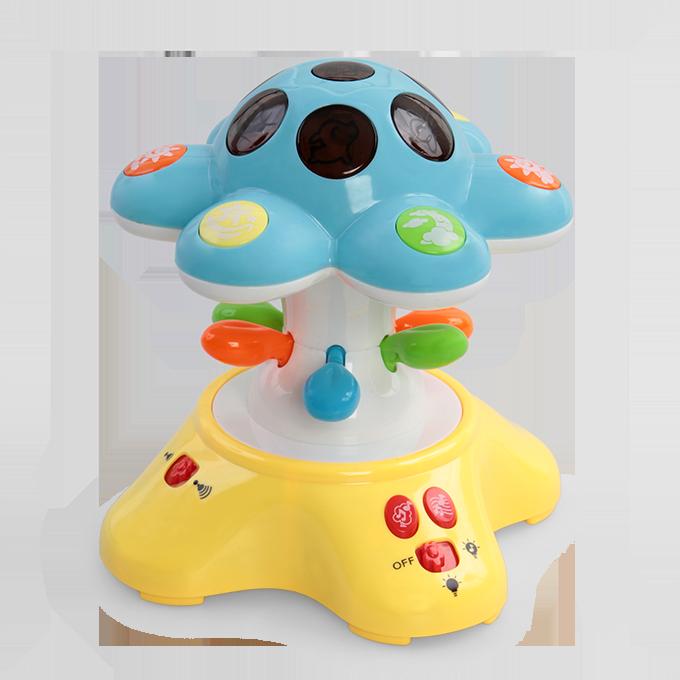 Hvězdná houba uspávací lampička s projekcí modrá