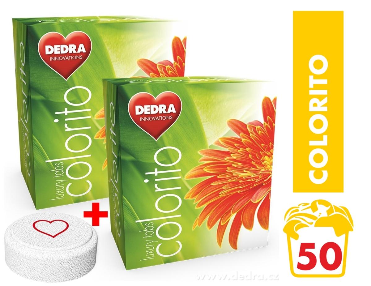 COLORITO 50 tabs na barevné prádlo prací tablety