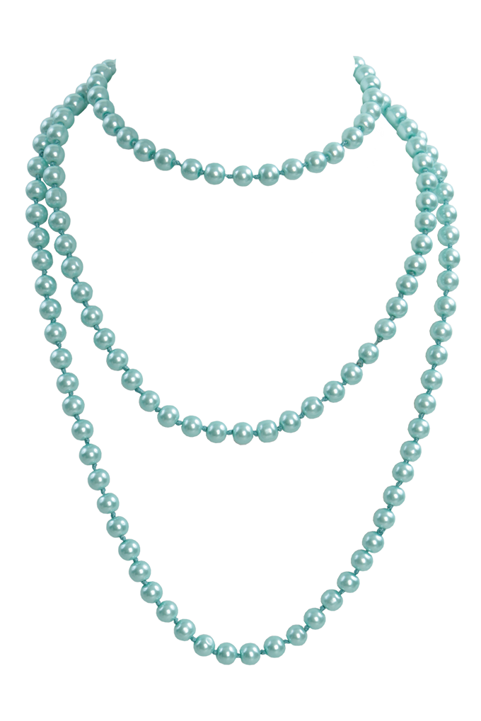 Korále náhrdelník, mintová perleť