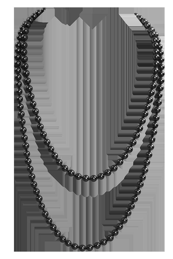 Korále náhrdelník, černá