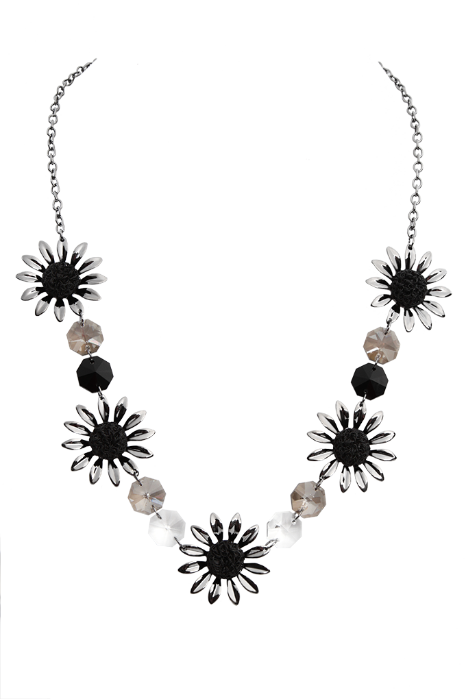 FLOWERS, rozverný náhrdelník