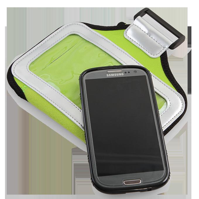 DA95122-Športové púzdro na paži pre mobilné telefóny, zelené