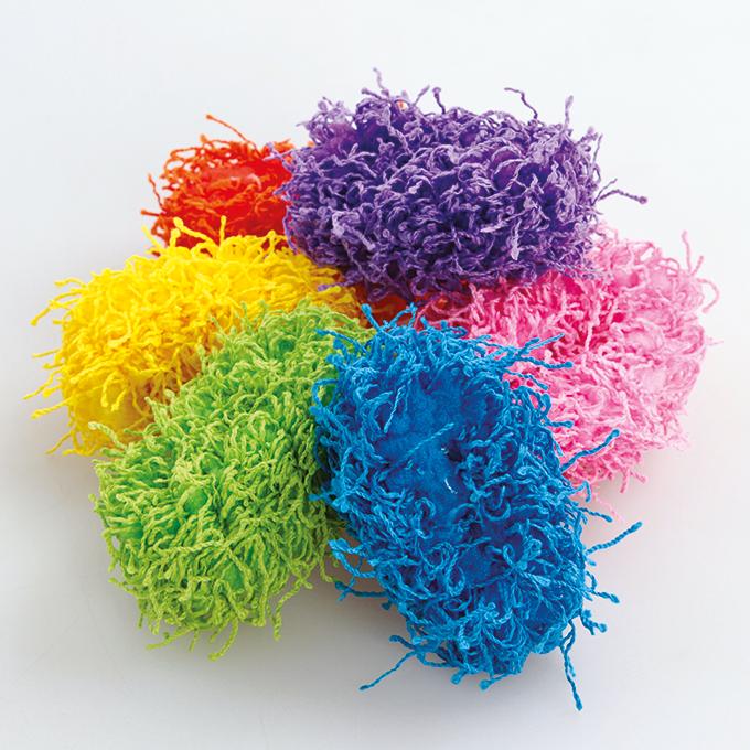 6 ks provázkové gumičky  do vlasů elastické barevné