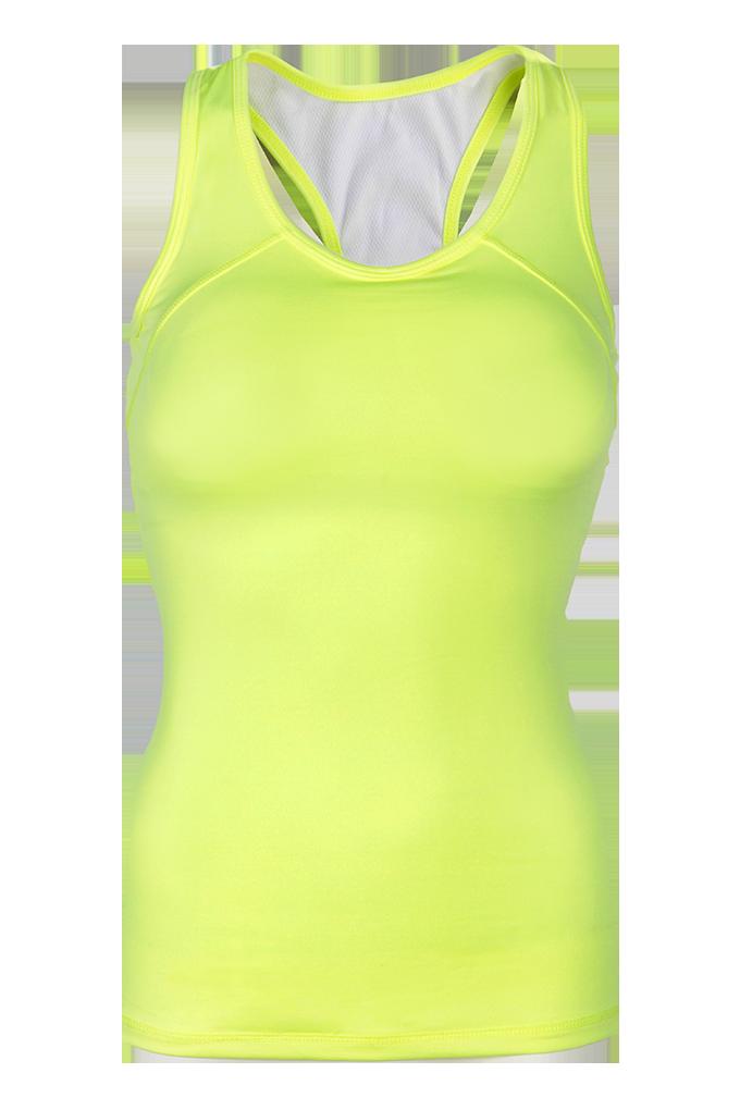 TÍLKO s podprsenkou sportovní elastické jasně zelené vel.1(S)