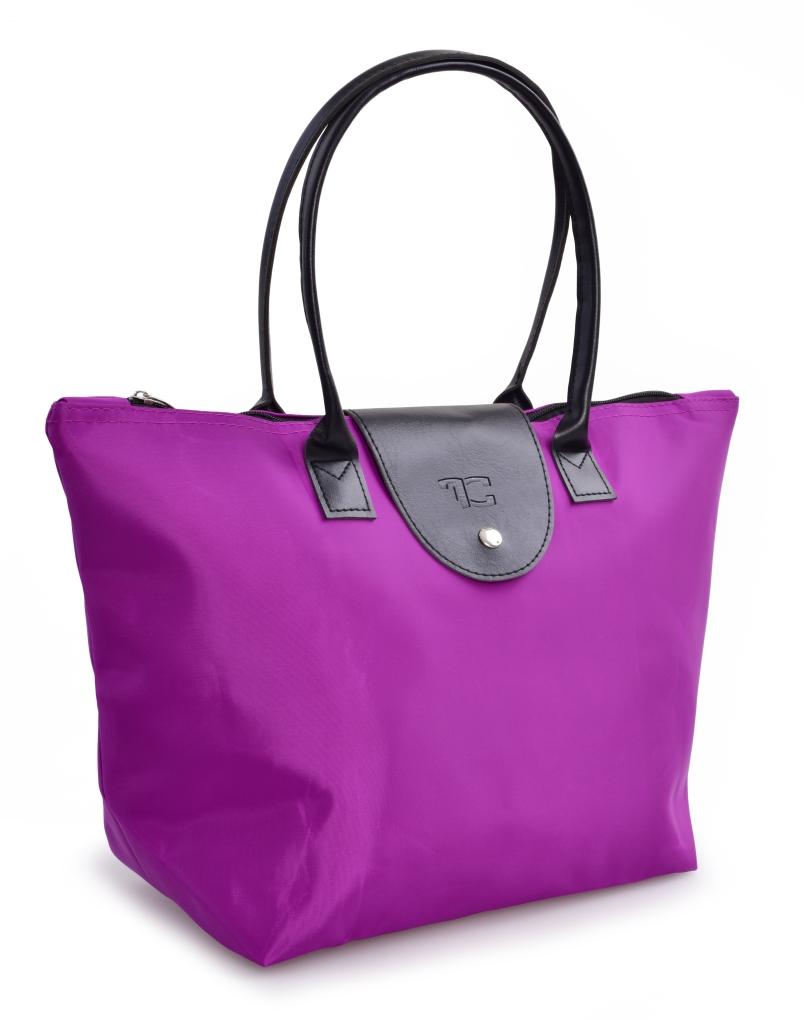 Kompaktní kabelka  skládací fialová