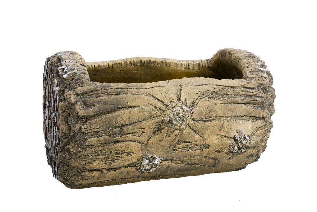 Kameninový truhlík dekor kůry, špalek na dekorace nebo květiny