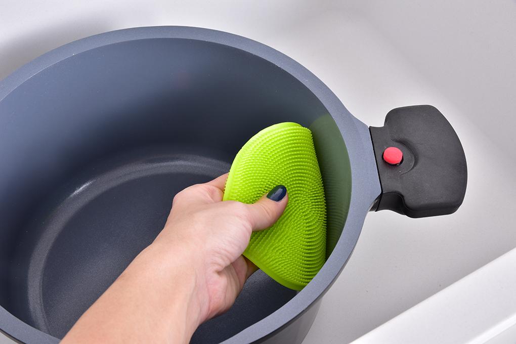 DA9826-SILISASANKA na umývanie silikónová hubka obojstranná, zelená