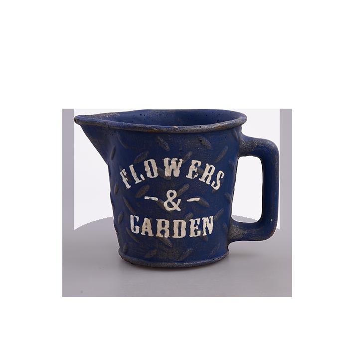 Kameninový květináč FLOWERS & GARDEN námořní modrý
