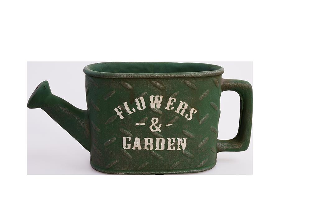 Kameninový květináč FLOWERS & GARDEN olivový