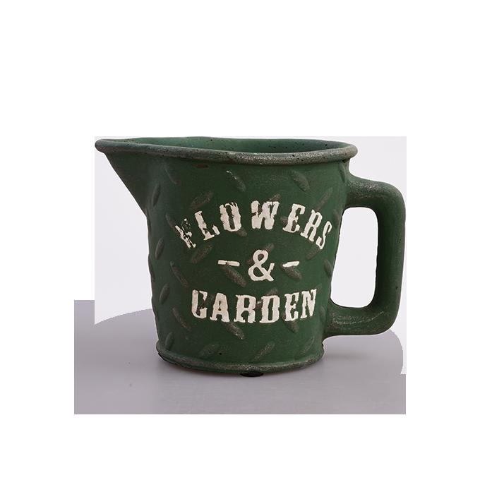 DA97893-Kameninový kvetináč FLOWERS & GARDEN olivový