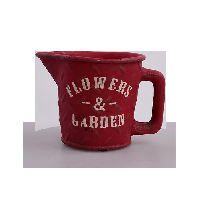 Kameninový květináč FLOWERS & GARDEN cihlově červený
