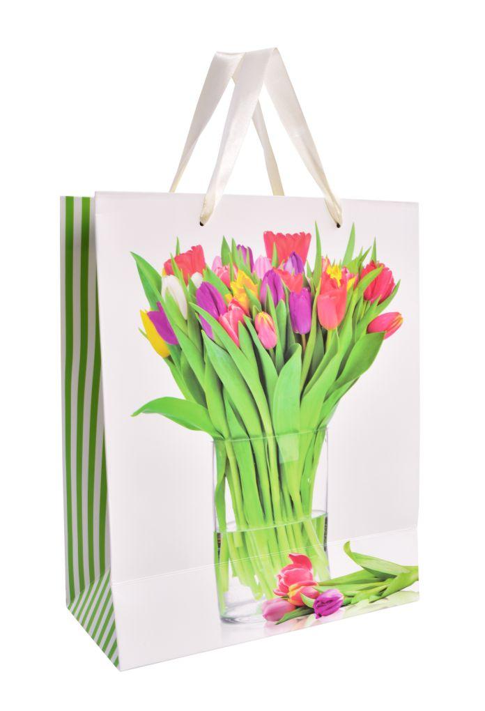 Dárková taška  tulipány
