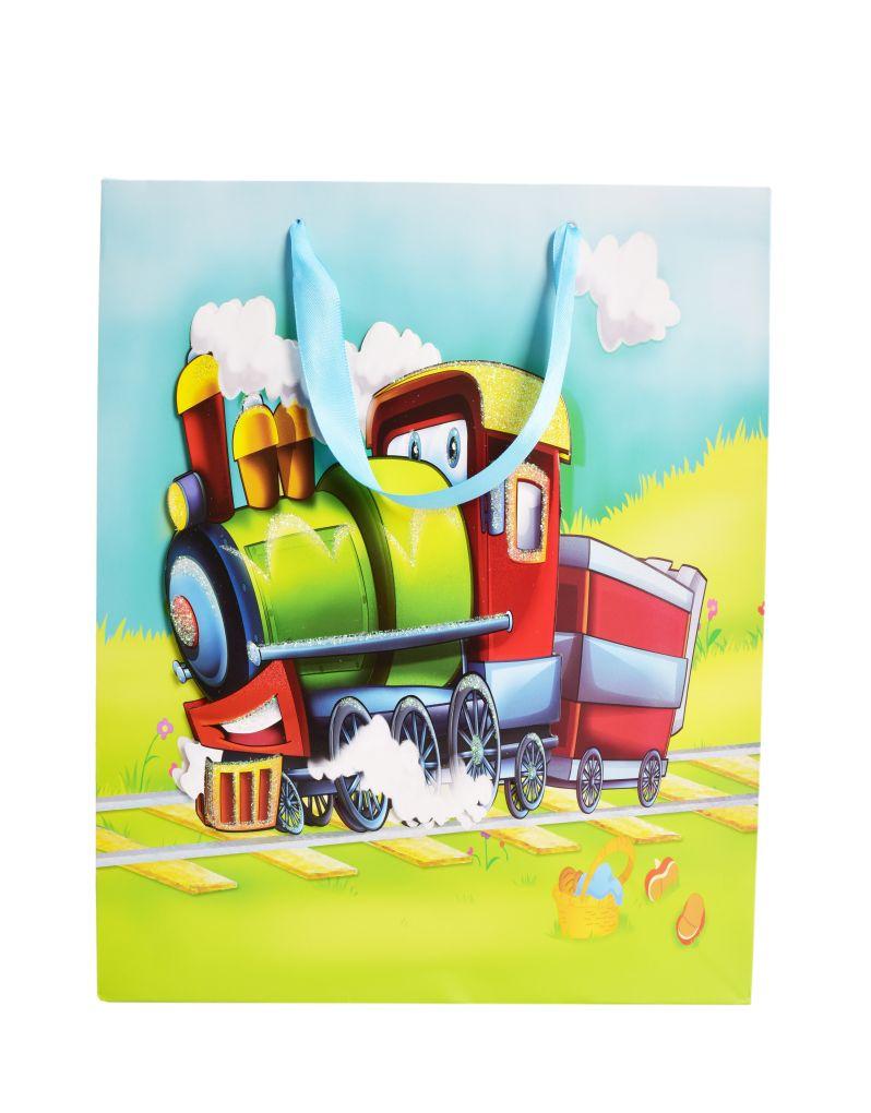 3D dárková taška, lokomotiva