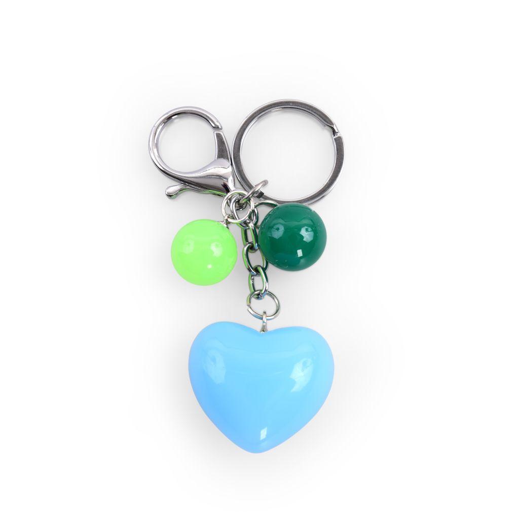 PŘÍVĚŠEK SRDÍČKOna kabelku či klíčemodré