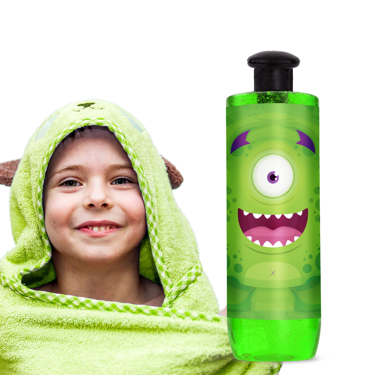 HOGO sprchový gel + ZDARMA 🎁 textilní houbička na mytí