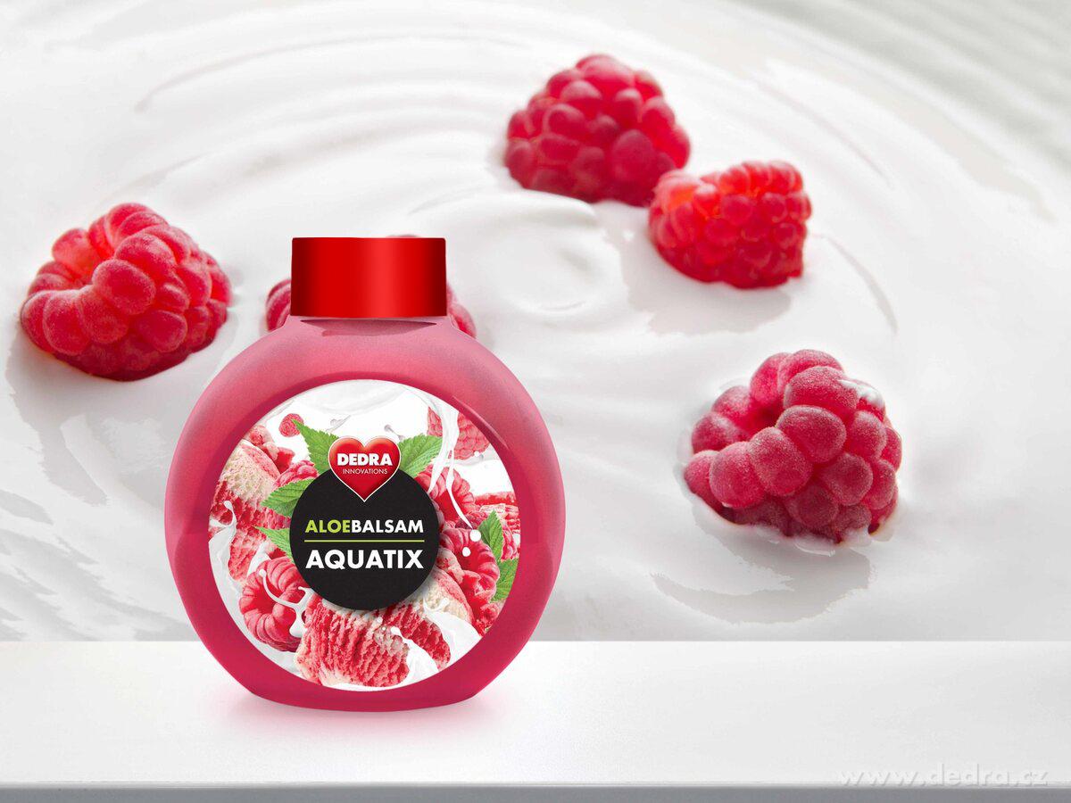Koncentrát na ruční mytí nádobí, ALOEBALSAM AQUATIX maliny se smetanou,bez pumpičky