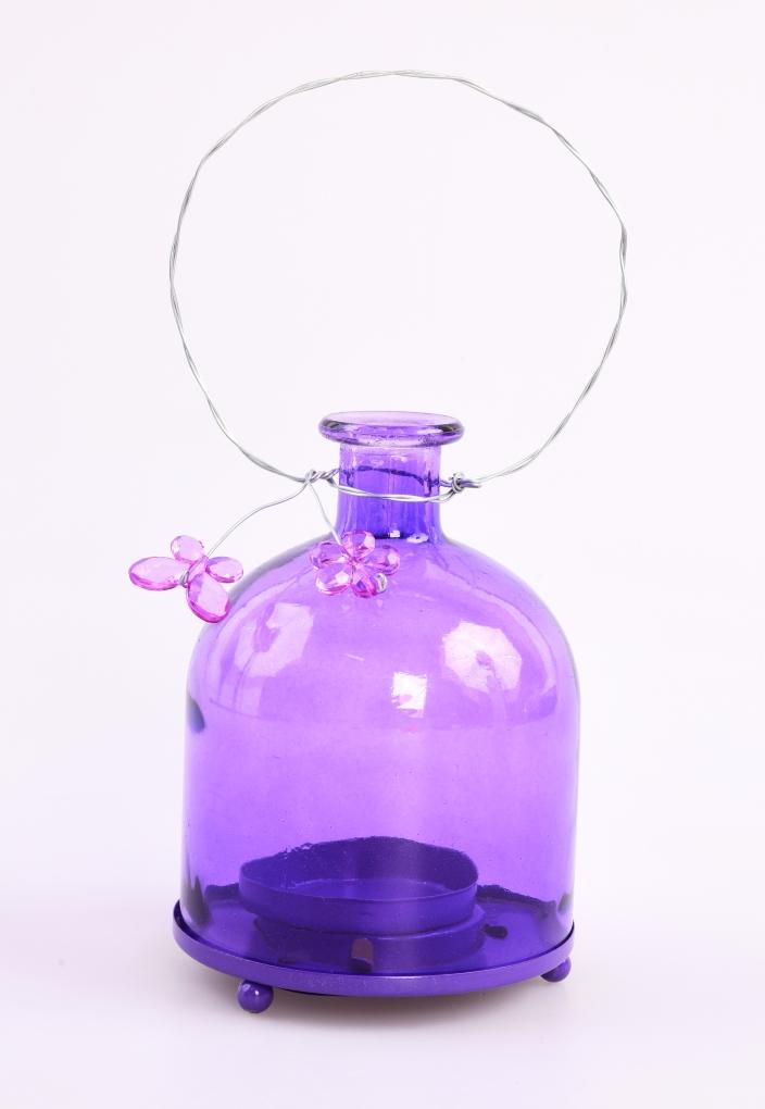 Svícen, ve tvaru baňaté lahve