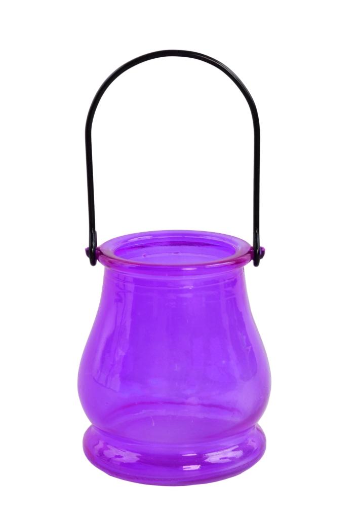 Skleněný svícen, na čajovou svíčku