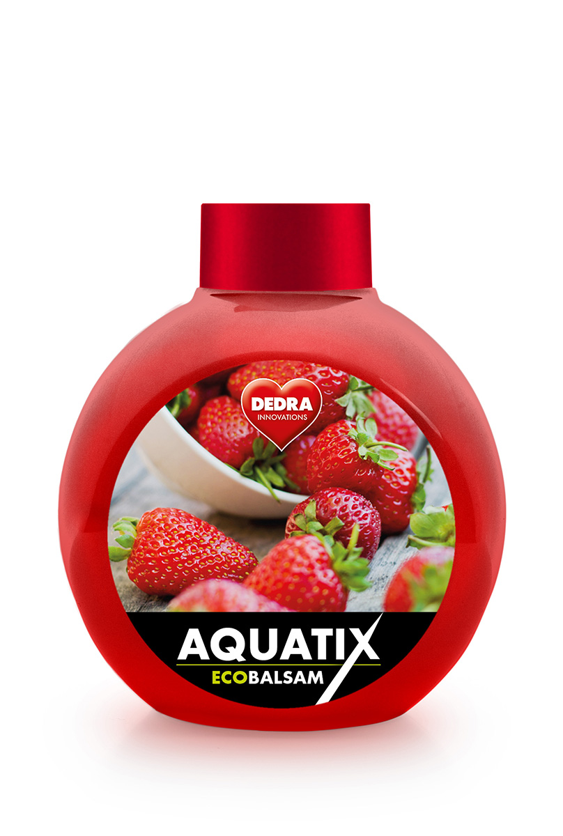 EKO koncentrát na ruční mytí nádobí, ECOBALSAM AQUATIX®, jahody, bez pumpičky