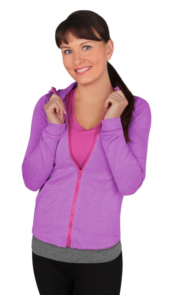 MIKINA, dámská na zip   vel.3(L)