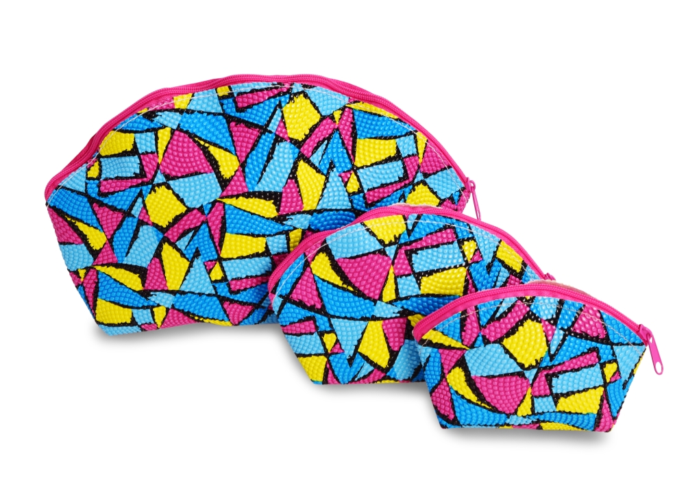 3 ks KOSMETICKÁ TAŠTIČKA  barevná geometric