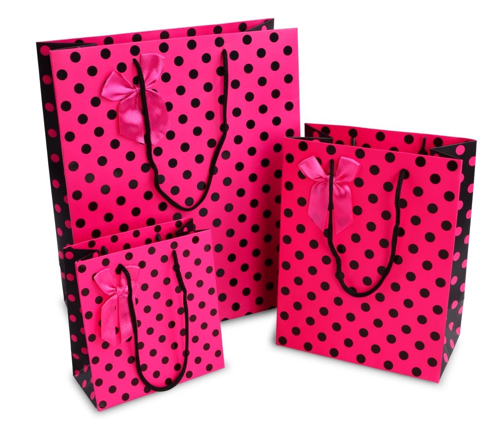 Dárková taška s puntíky