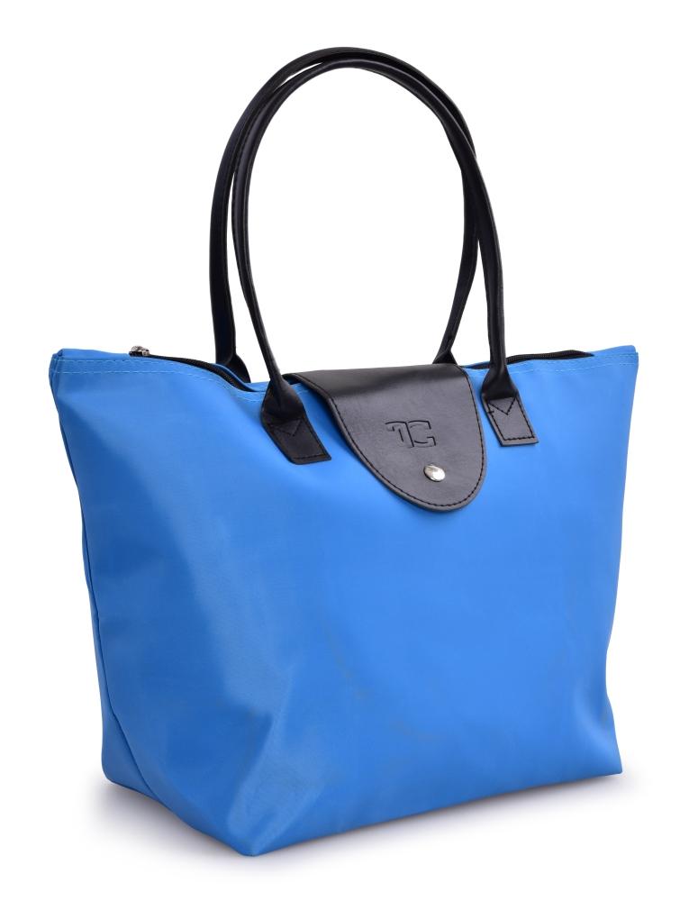 Kompaktní kabelka  skládací modrá