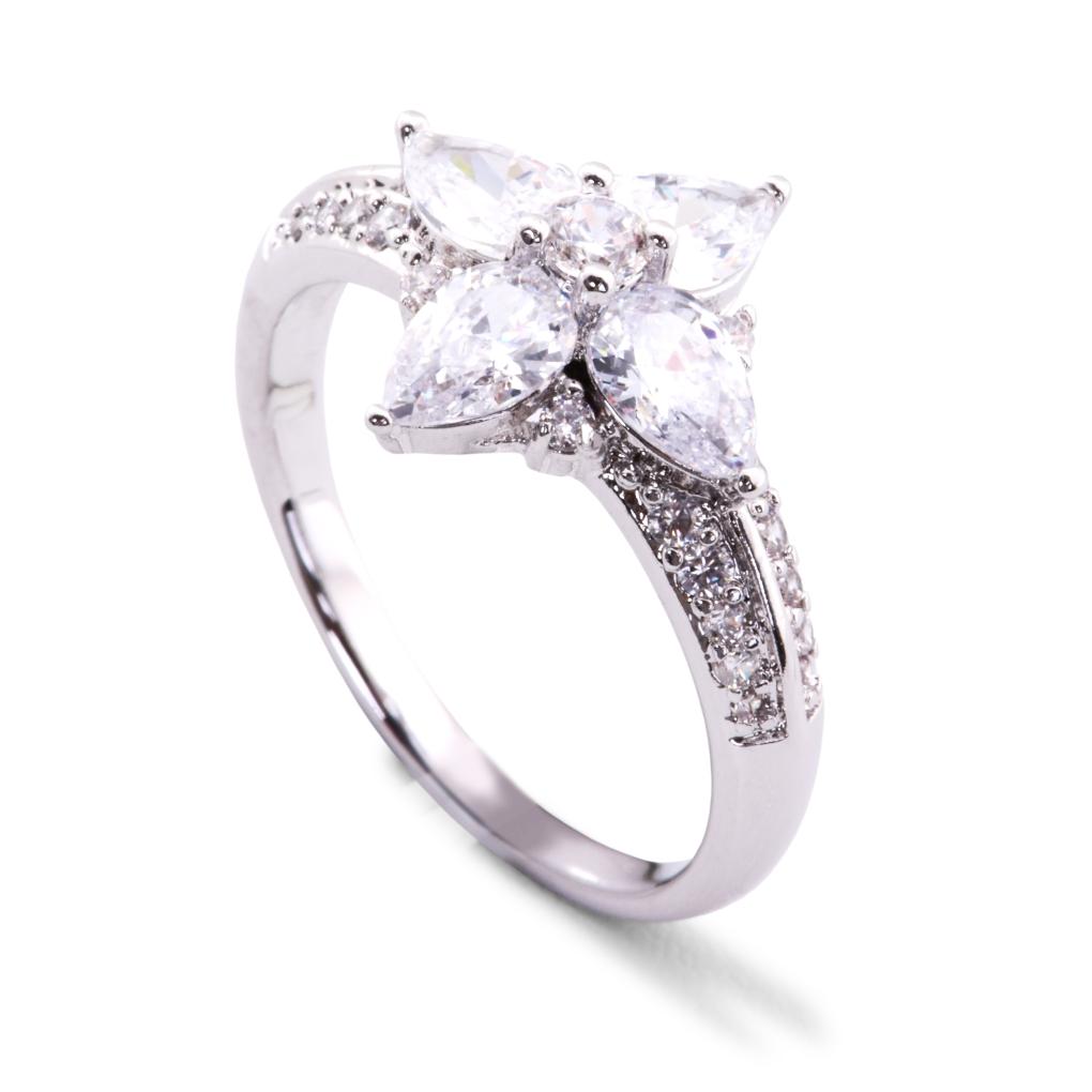 Prsten se zirkony rhodiováno 2(vel.7)