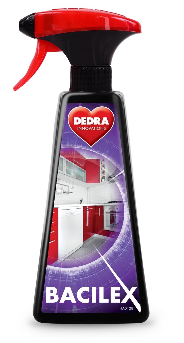 Hygienický čistič hladkých povrchů s vysokým obsahem alkoholu 70 %, 500 ml, BACILEX®
