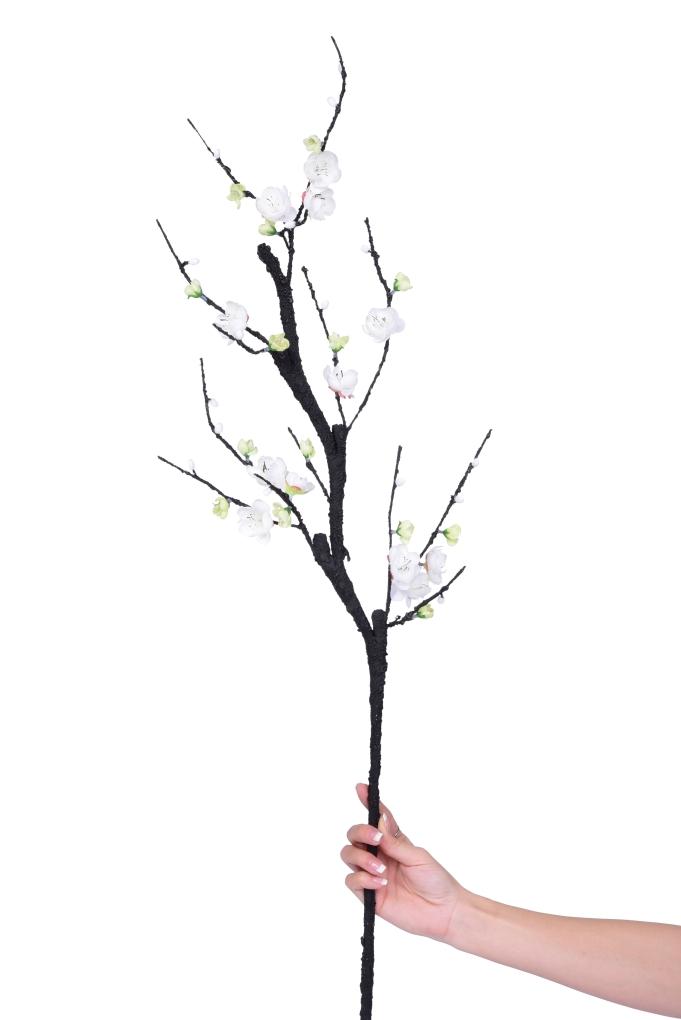 Větev s květy třešně  sakura, výška 90 cm ateliérová květina