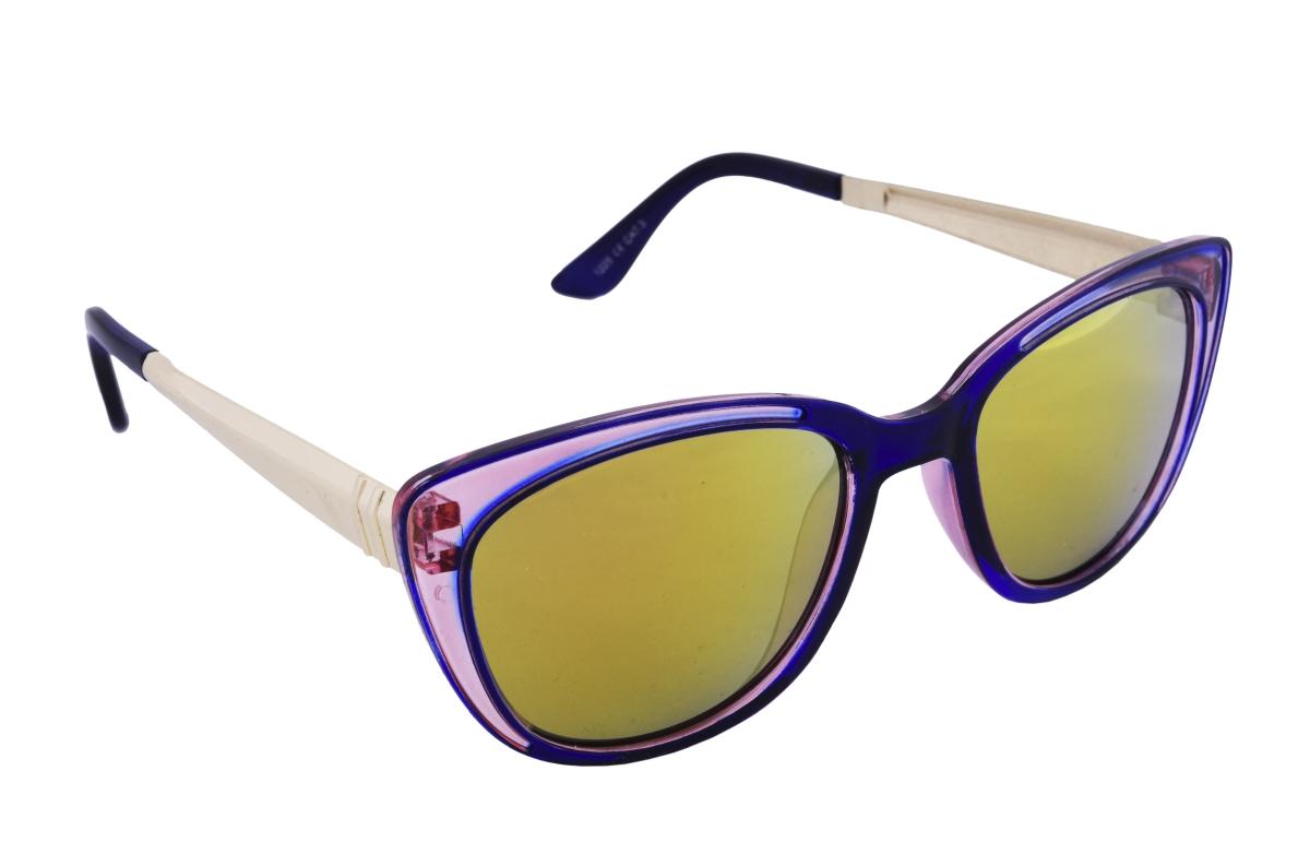 Sluneční brýle 100% UV ochrana modro růžové